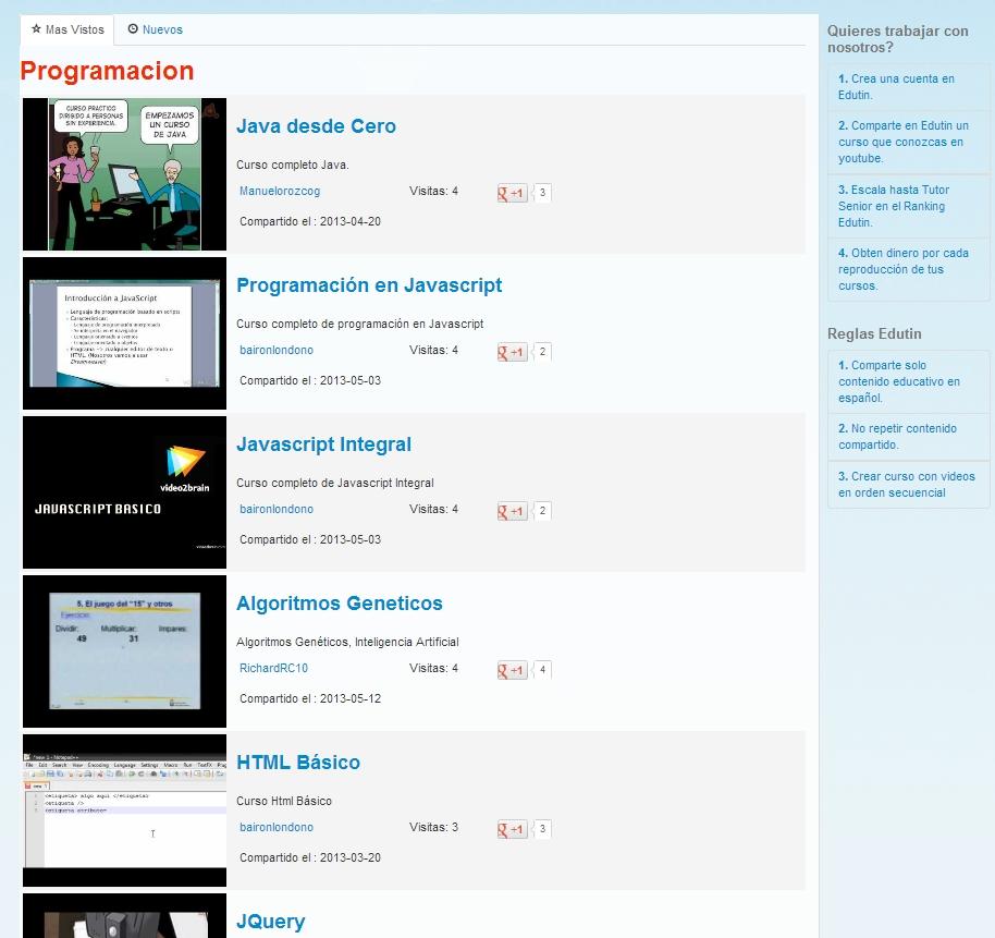 Cursos de Programacion gratis en Youtube