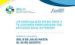 Convocatoria BEC.AR para obtener becas de especialización en Big Data